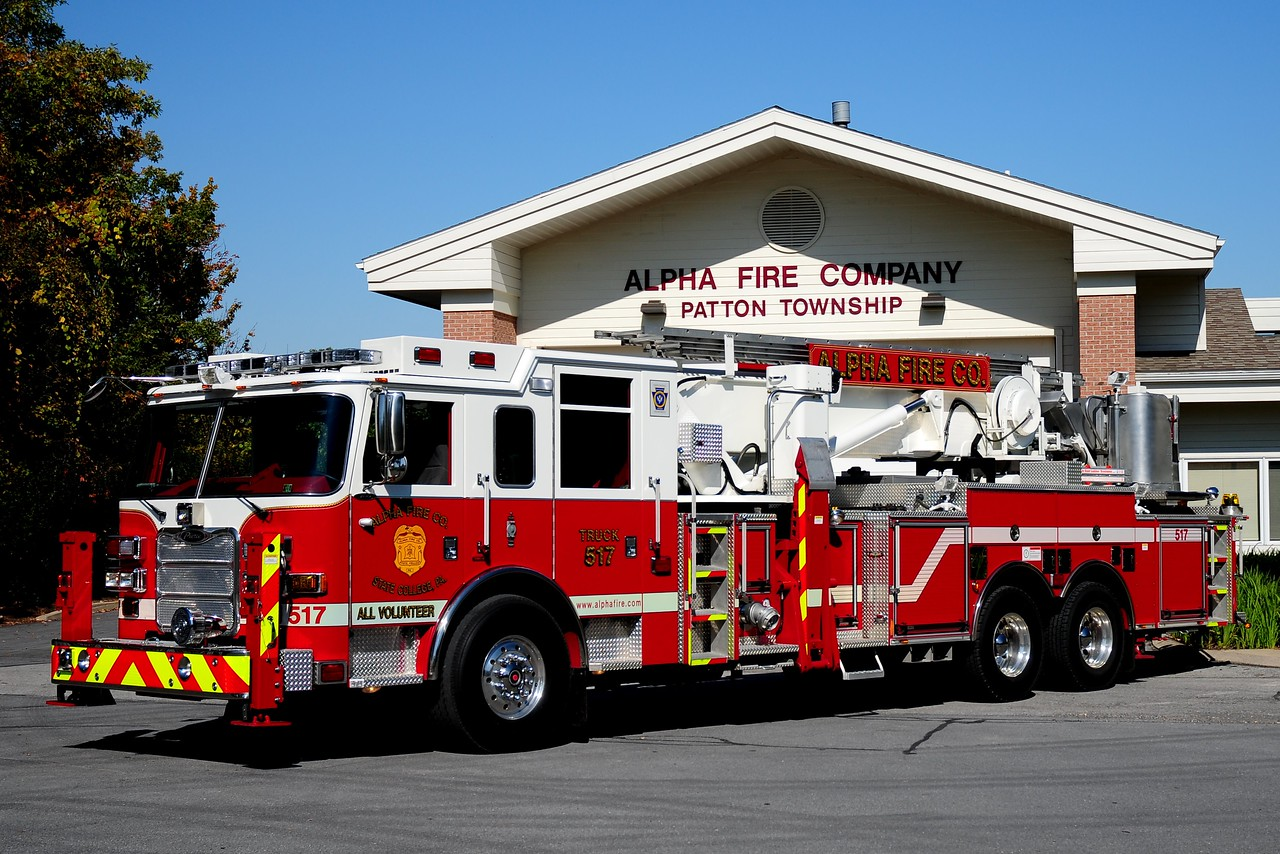 Alpha Fire Co  Truck 517  2009 Pierce Aerialscope  75 ft
